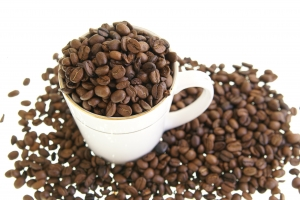 Royalty Free Image: Coffee Beans in Mug