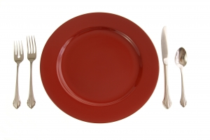Stock Photo Thumbnail: Red Table Setting