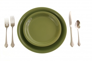 Royalty Free Image: Green Place Setting