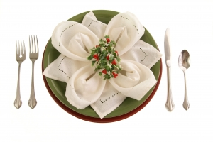 Stock Photo Thumbnail: Holiday Table Setting