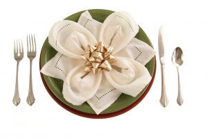 Stock Photo Thumbnail: Table Setting With Bow