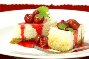 Stock Photo Thumbnail: Cherry Cheesecake