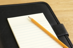 Stock Photo Thumbnail: Pencil and Notepad