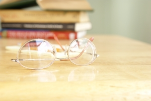 Royalty Free Image: Eyeglasses on Table
