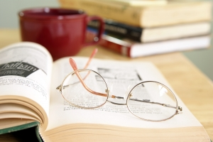 Royalty Free Image: Eyeglasses On Open Book