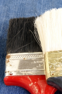 Royalty Free Image: Two Old Paintbrushes