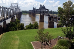Royalty Free Image: Two Mississippi River Bridges