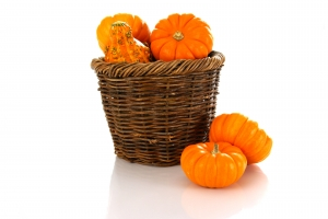 Stock Photo Thumbnail: Pumpkins in a Basket
