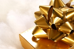 Royalty Free Image: Golden Bow