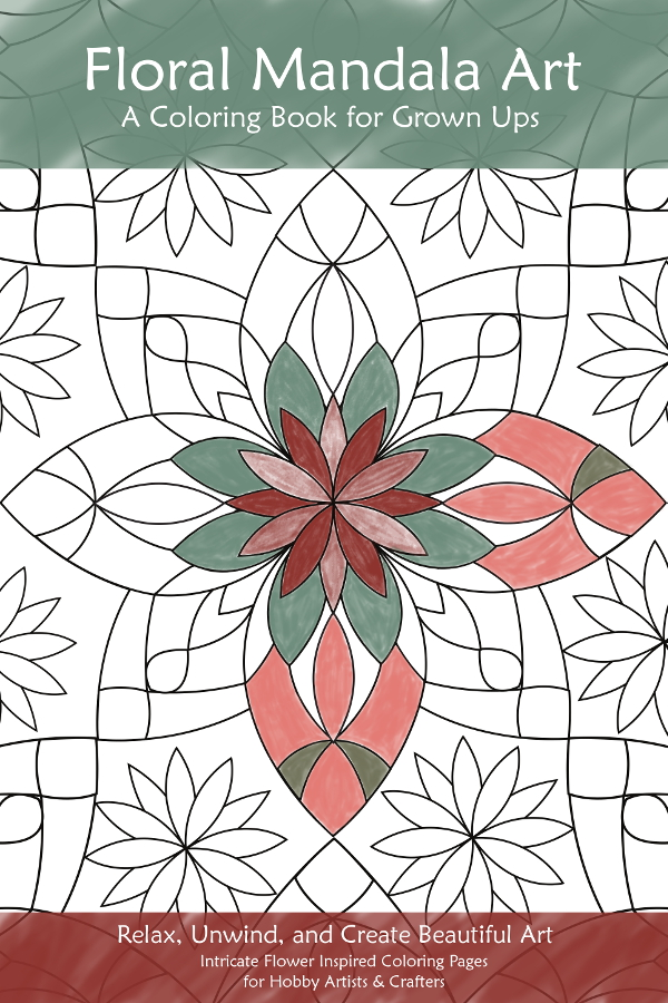 Floral Mandala Art Coloring Book for Grown Ups