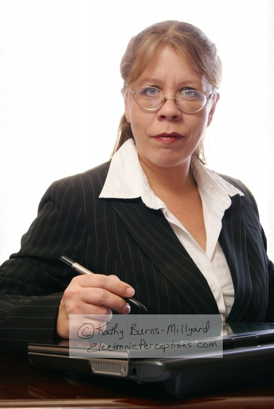 Woman with Glasses and Tablet PC - Stock photography ©Kathy Burns-Millyard